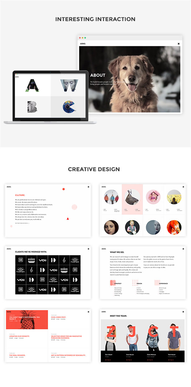 Aoko - Creative WordPress Theme - 3
