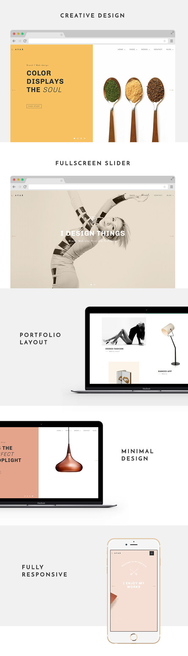 Lavar - Portfolio & Agency WordPress Theme