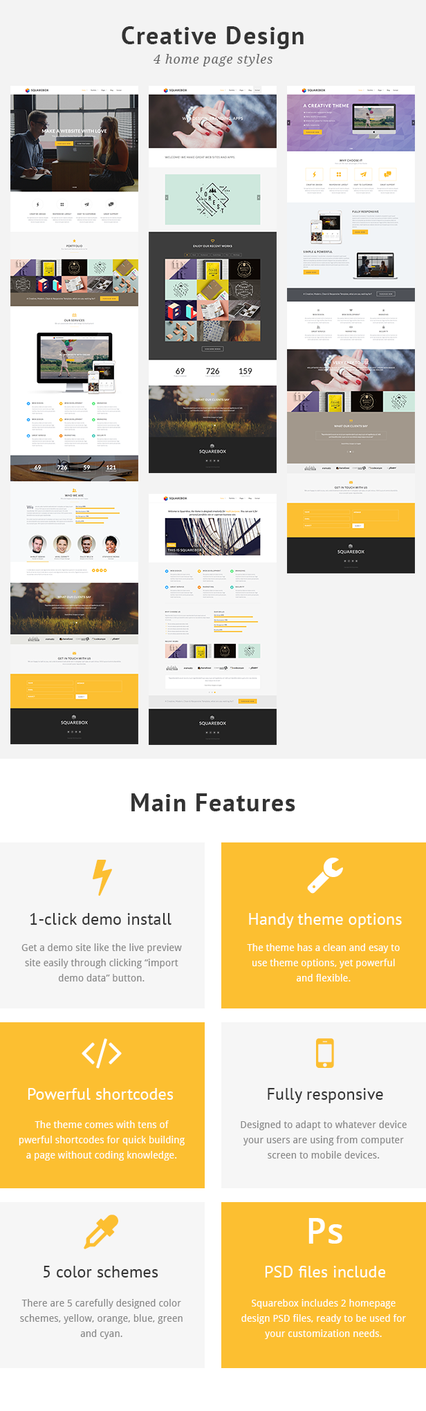 Squarebox - Creative Multi-Purpose WordPress Theme